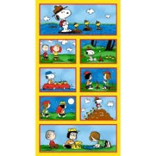 *16* 116 22527-S Camp Peanuts Panel CPP