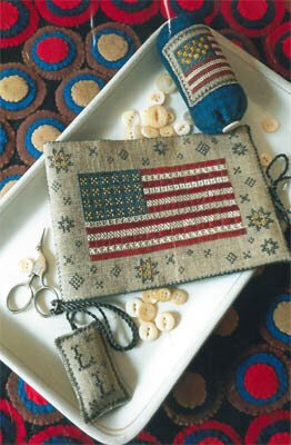 -8- 1119 Flag of Glory Needle Book by Chessie & Me
