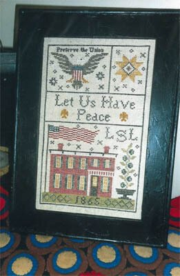 -8- 1119 Grant House 1865 Sampler by Chessie & Me