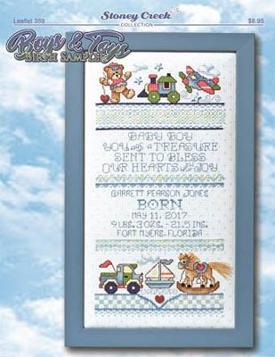 Boys & Toys Birth Sampler by Stoney Creek