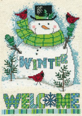 -3- 1117 Winter Welcome Snowman by Imaginating
