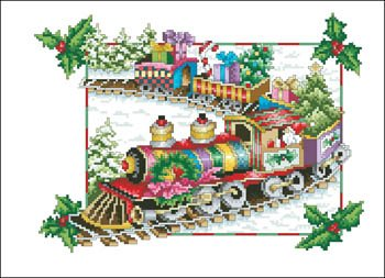 -3- 1217 Holiday Train (A Floral Renaissance) by Vickery Collection