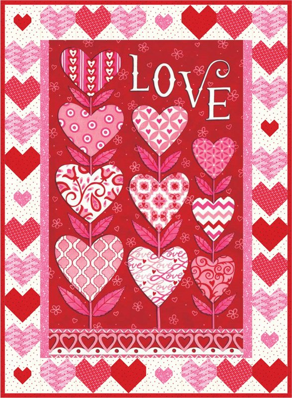 Love Grows Quilt Kit 32 x 44