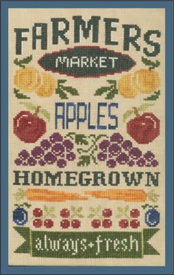 -9- 418 Farmer's Market by Elizabeth's Needlework Designs