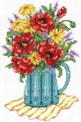 -9- 618 Spring Flowers in Vase by Imaginating