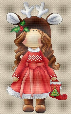-3- 1118 Renne de Noel by Les Petites Croix de Lucie