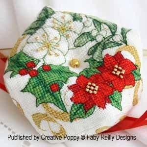 -3- 1218 Christmas Biscornu by Creative Poppy