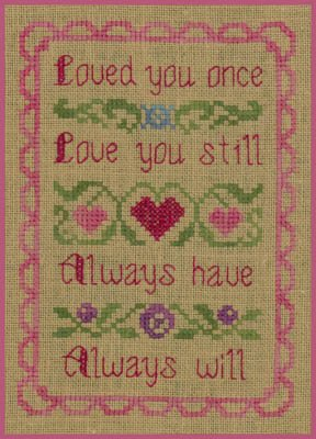 -5- 319 Love You by Elizabeth's Needlework Designs