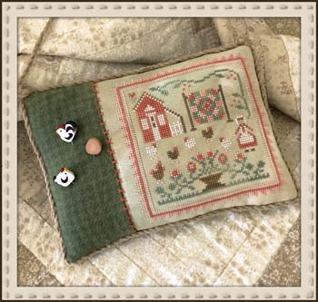 The Rooster and the Hens by Little House Needleworks