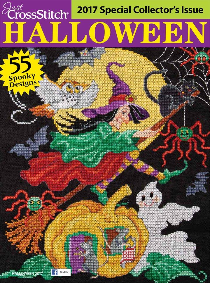 Just Cross Stitch Magazine 2017 Halloween Edition
