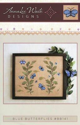 -6- 820 Blue Butterflies by AnnaLee Waite