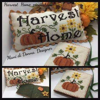 -4- 121 Harvest Home Pincushion by Mani di Donna