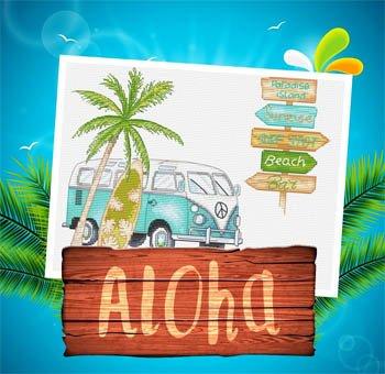 -8- 920 Aloha by Les petites croix de Lucie