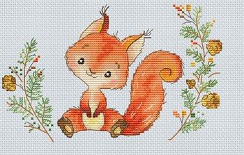 -7- 1020 Forest Squirrel by Les Petites Croix De Lucie