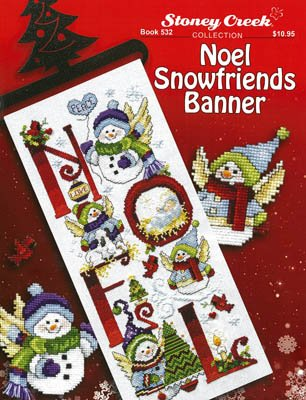 -3- 1120 Noel Snowfriends Banner by Stoney Creek Collection