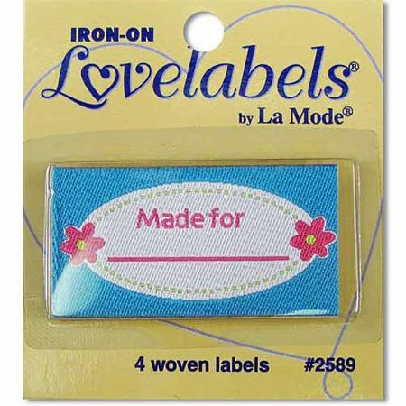 Made For Iron-on Lovelabels - 1-7/8in x 1in