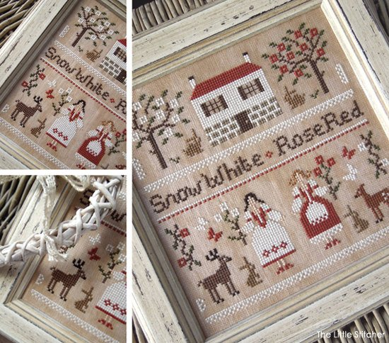 Snow White and Rose Red by the Little Stitcher