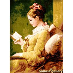 -17- 1119 The Girl with Book by Solaria Gallery