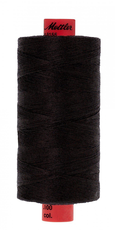 9155-4000 (old co. 0003) Black Metrosene Poly Thread 50wt 1000m/1094yds