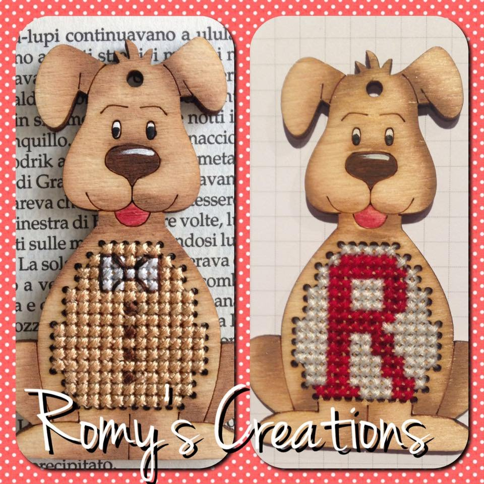 -1- 420 Dog (Stitch in Wood) by Romy's Creations