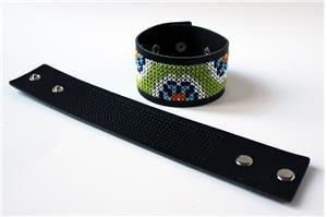 Black Stitchable Cuff w/ free pattern