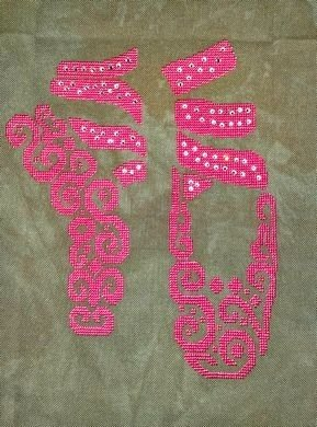 -10- 420 Tribal Ballet by White Willow Stitching