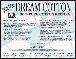 Craft Nat. Request Cotton 46x36 Batting