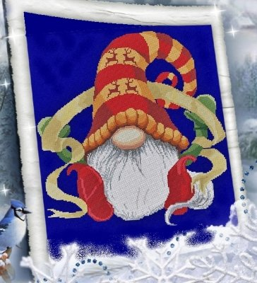 -3- 121  A Gnome and a Ribbon by Alessandra Adelaide Needleworks