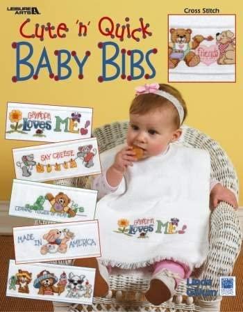 -5- 420 Cute 'n' Quick Baby Bibs by Leisure Arts
