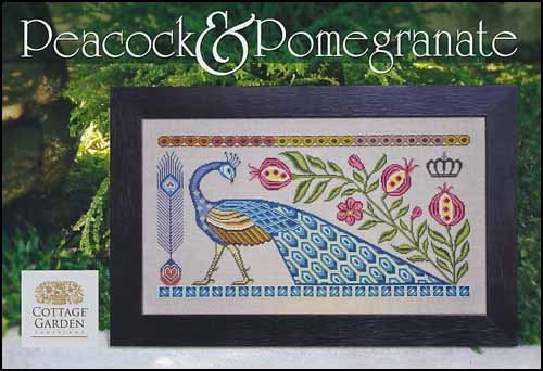 Peacock & Pomegranate by Cottage Garden Samplings