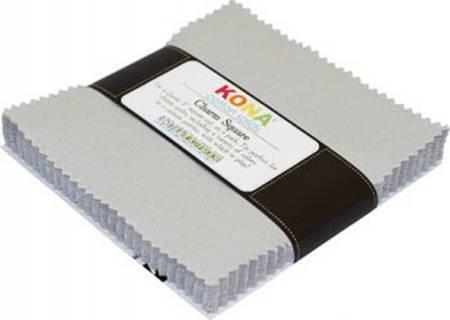 Kona Solids Ash 5 squares