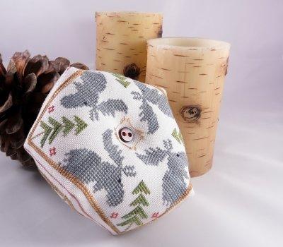 Moose Biscornu by Designs by Lisa