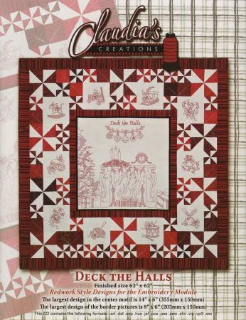 Deck the Halls Machine Embroidery CD