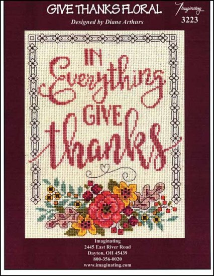 -4- 1219 Give Thanks Floral by Imaginating