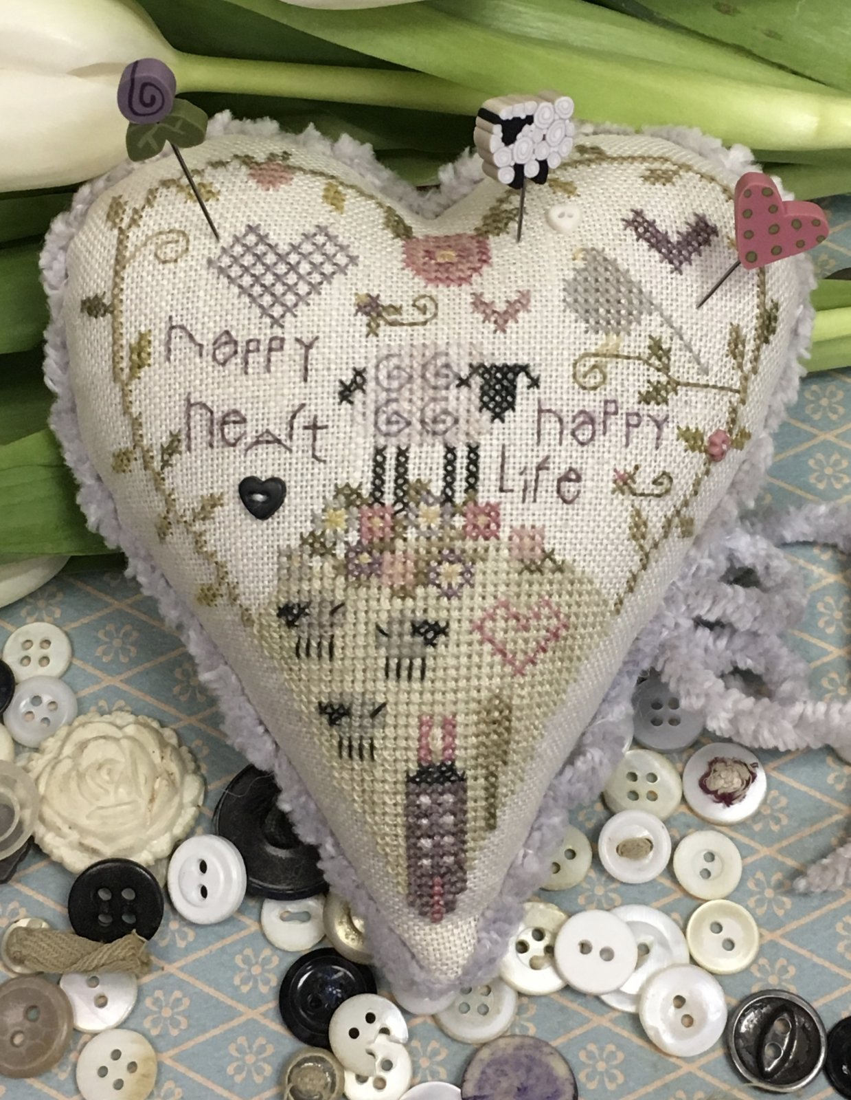 Happy Life Pincushion Kit by Shepherd's Bush