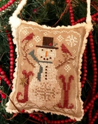 -3- 421 Snow Joyful -2020 Annual Christmas Ornaments by Homespun Elegance