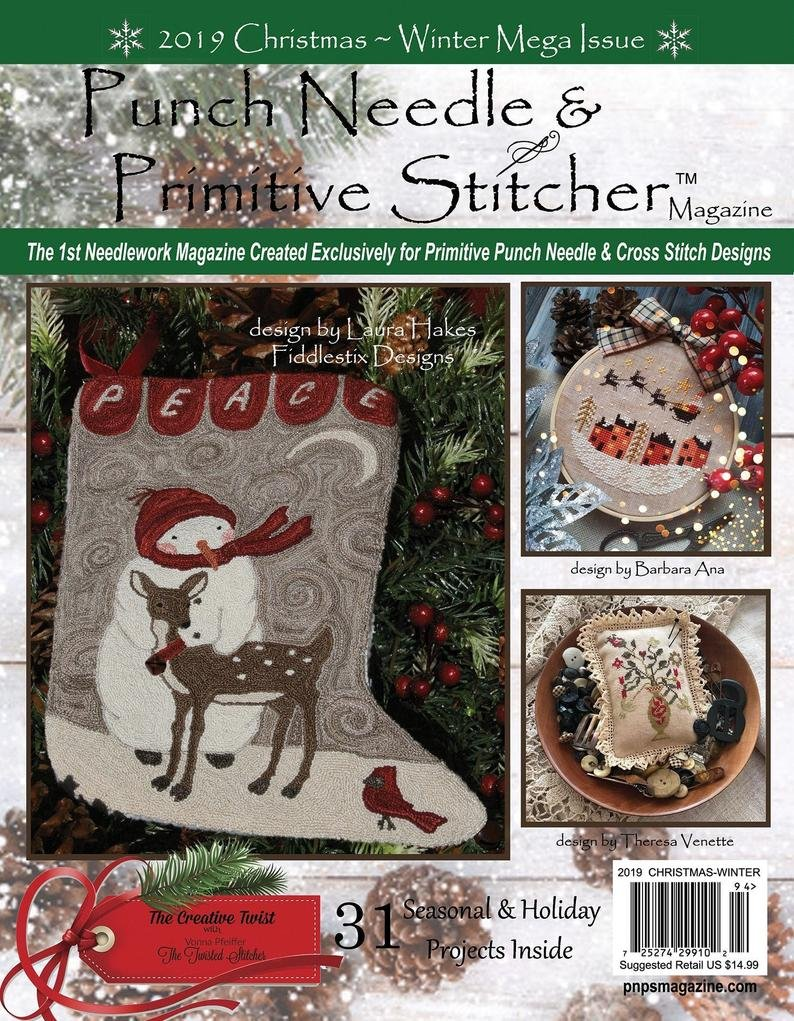 -18- 1119 Christmas 2019 Punch Needle & Primitive Stitcher Magazine
