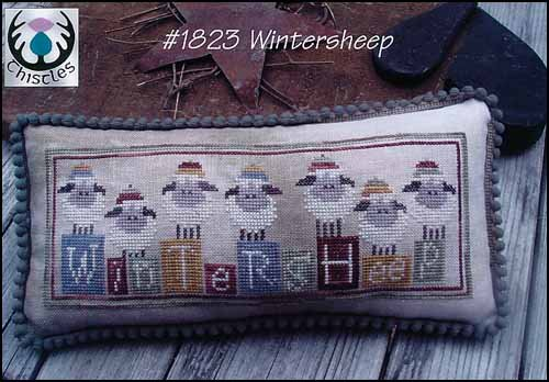 -3- 419 Winter Sheep by Thistles
