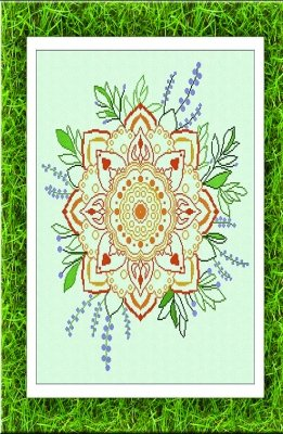 -8- 818 Summer Mandala By Alesandra Adelaide Needleworks