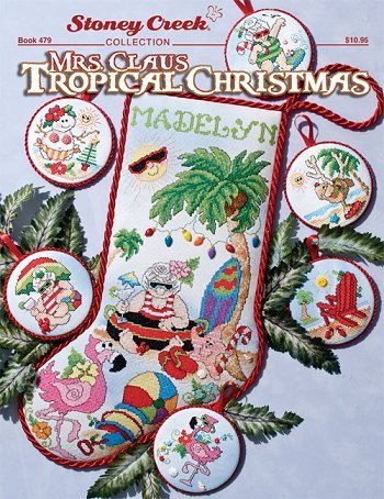 -3- 420 Mrs. Claus Tropical Christmas buttons included by Stoney Creek