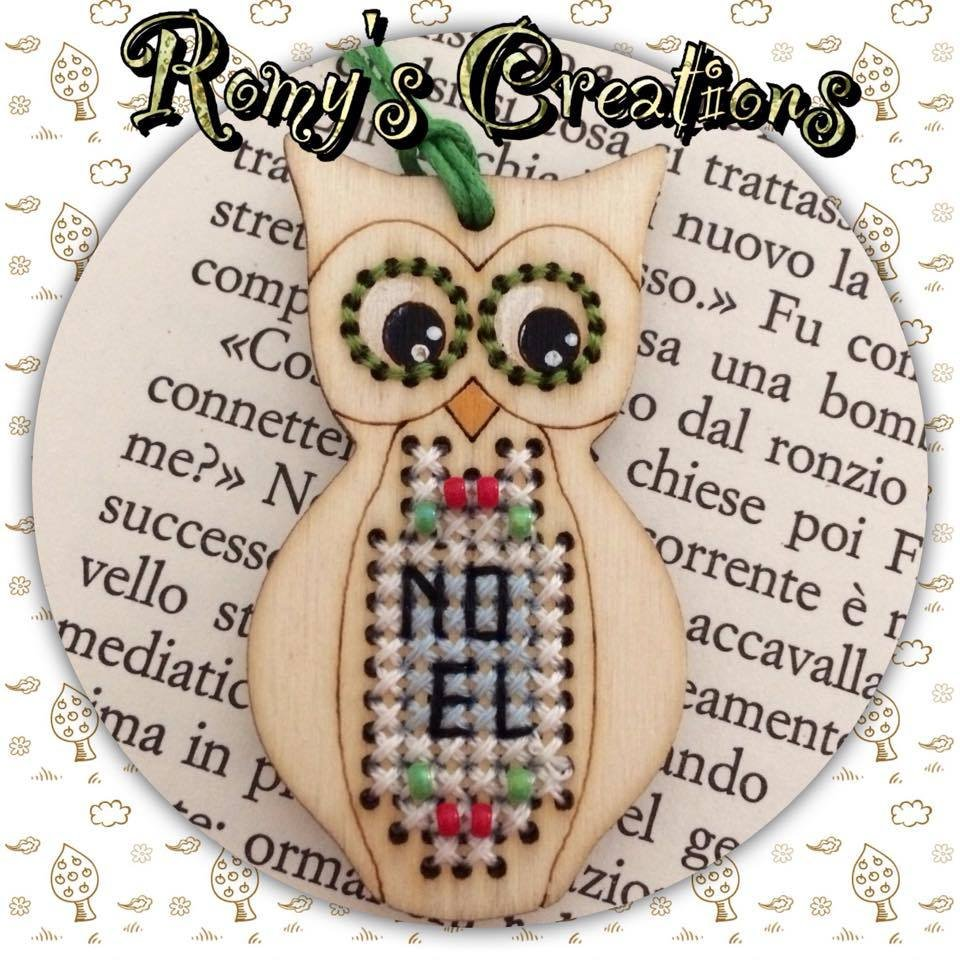 -1- 420 Owl (Stitch in Wood) by Romy's Creations