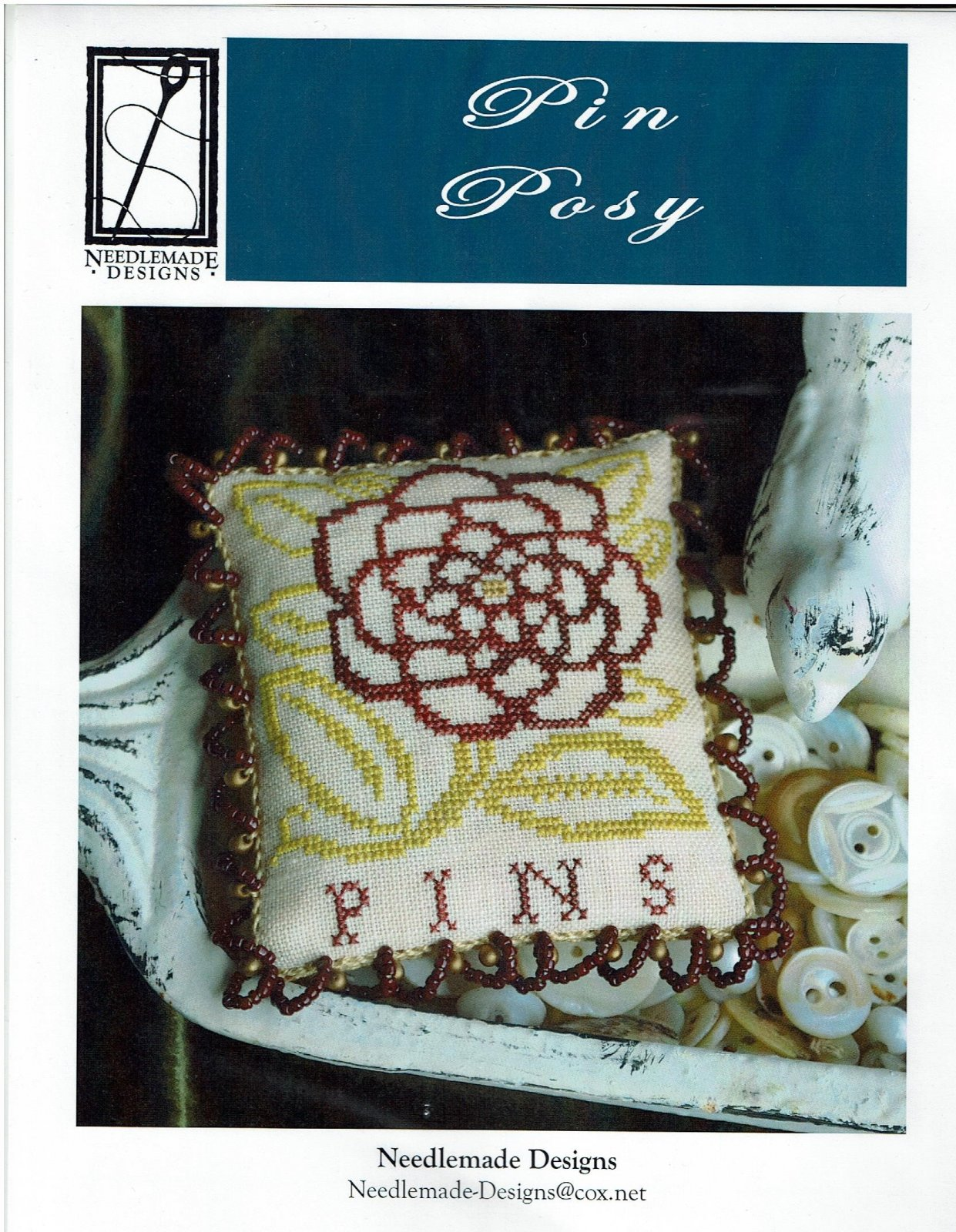-9- 317 Pin Posy by Needlemade Designs
