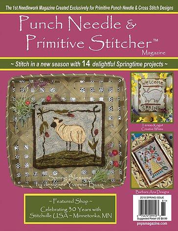 Spring 2018 Punch Needle & Primitive Stitcher Magazine