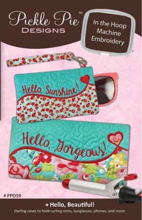 Hello Beautiful by In The Hoop Design Machine Embroidery CD
