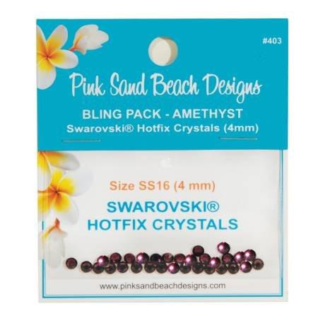 Bling Pack - Swarovski Hotfix Crystal 4mm -Amethyst