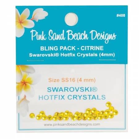 Bling Pack - Swarovski Hotfix Crystal 4mm -Citrine