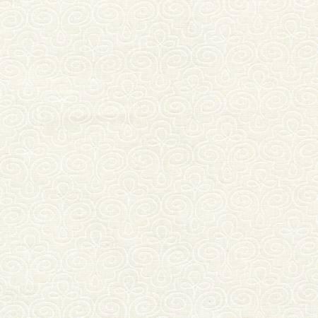 *2* 1119 RA10768-W White on White Leaf
