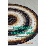 Colossal Round Rug & Jelly Roll Rug by RJ Designs