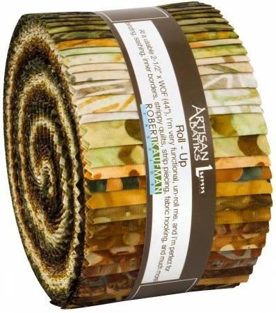 2-1/2in Strip Fossils & Rocks BATIK Jelly Roll (40pcs)
