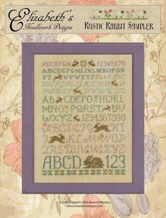 -2- 420 Rustic Rabbit Sampler by Elizabeth's Needlework Designs